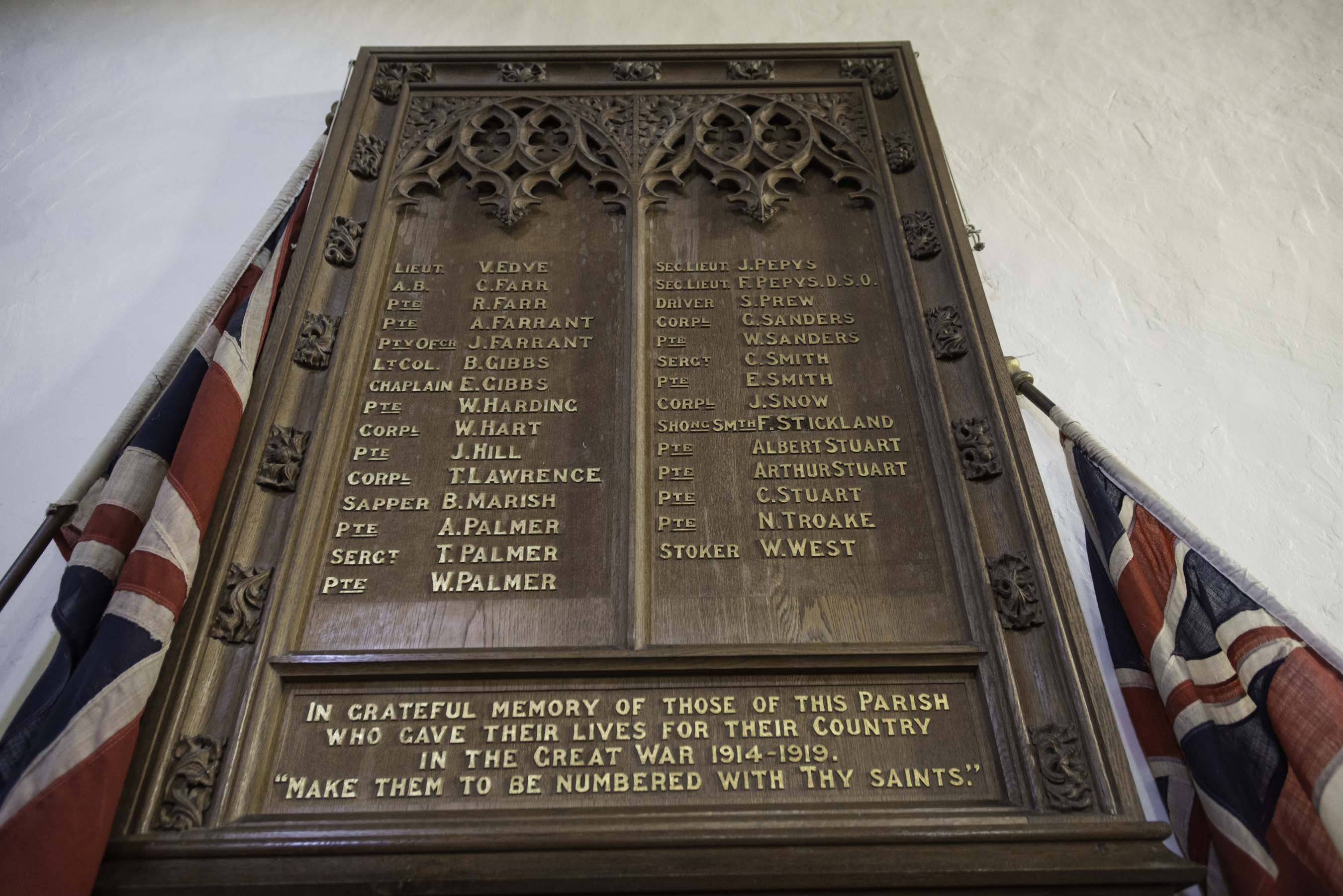 East Budleigh Memorial Tablet